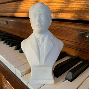 Edward MacDowell composer ceramic bust figurine